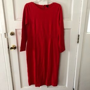 NWOT J. Crew Long Sleeve Midi Cotton Dress 8